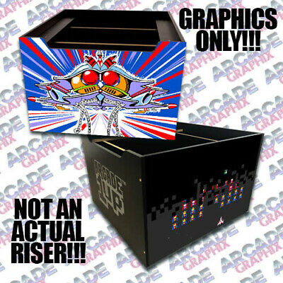 Centipede Arcade 1up Cabinet Riser Graphic Decal Sticker