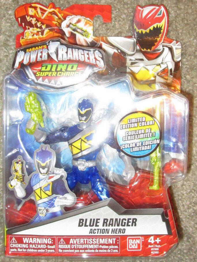 POWER RANGERS DINO SUPERCHARGE blu RANGER 97602 KODA LIMITED EDITION COLOR