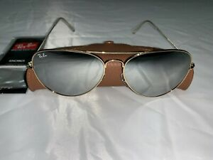 ray ban aviator gold mirror lens