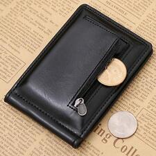 Slim Mini Zipper Leather Credit Card ID Coin Holder Money Clip Wallet Purse HOT