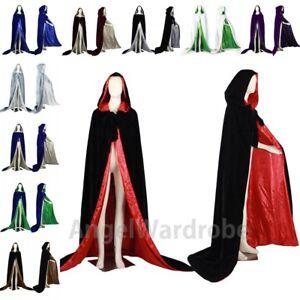 Noël titre Détails le Halloween S 6XL Rouge Velours d'origine Cape sur Mariage sorcellerie Chaperon Manteau afficher R34j5AL