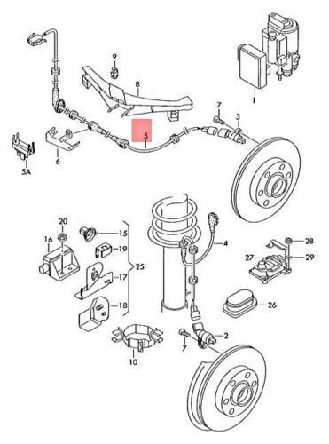 Genuine VW SEAT AUDI SKODA Wiring Harness For Speed Sensor Rear 8L0927904D