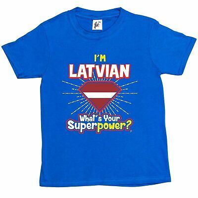 1Tee Kids Boys I/'m Bulgarian What/'s Your Superpower T-Shirt