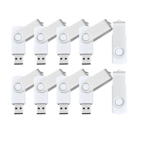 20Pack 1GB-16GB White USB 2.0 Flash Drives Enough Storage Memory Sticks U Drives
