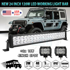 24Inch 120W Led Light Bar Flood Spot Combo Fog Driving Light 4WD OFFROAD SUV 20""