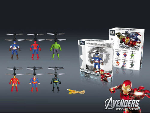 Avengers Hero Flying Sensor Control Drone Helicopter With Led Hand Wave Saucer