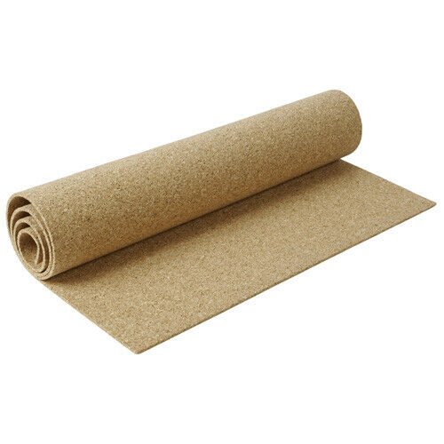 """BY THE FOOT 1//4/"""" THICK ONE CORK ROLL CHOOSE SIZE bulletin board sheet 4/' WIDE"""