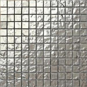 Details About Silver Gl Mosaic Wall Tiles Textured Bathroom Shower Gtr10127