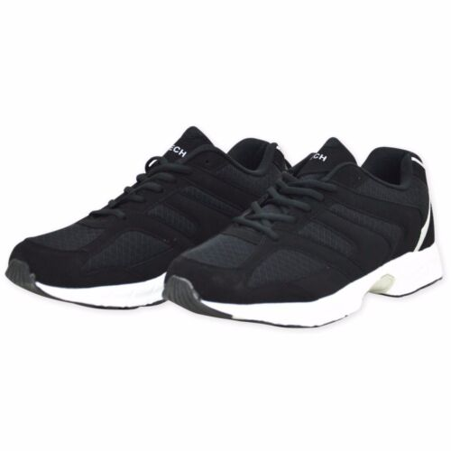 Bottes Taille Hommes Baskets 12 7 Lacets Hommes Chaussures Noir Jogging Chaussures Eclipse 8wq0Tx0