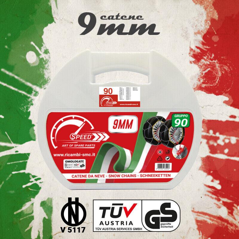 CATENE DA NEVE OMOLOGATE SMC 7mm PER GOMME 245 35 R 19 GRUPPO 120