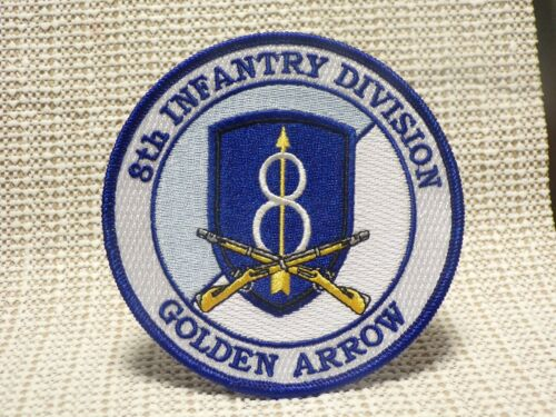 """US ARMY 8TH INFANTRY DIVISION /""""GOLDEN ARROW/"""" PATCH"""