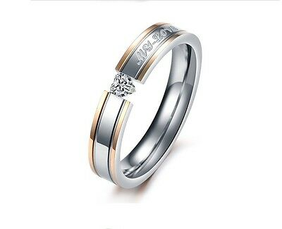 New arrival Engagement Rings Stainless Steel Rings MY LOVE  Rhinestone Jewelry 3