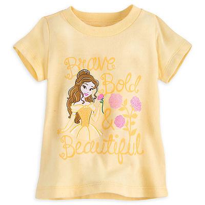 Disney Store Princess Belle Beauty /& the Beast Baby Girls T Shirt 18-24 Months