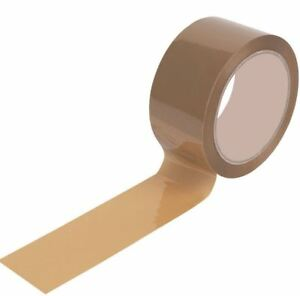 brown sellotape 72 rolls office use packing tape