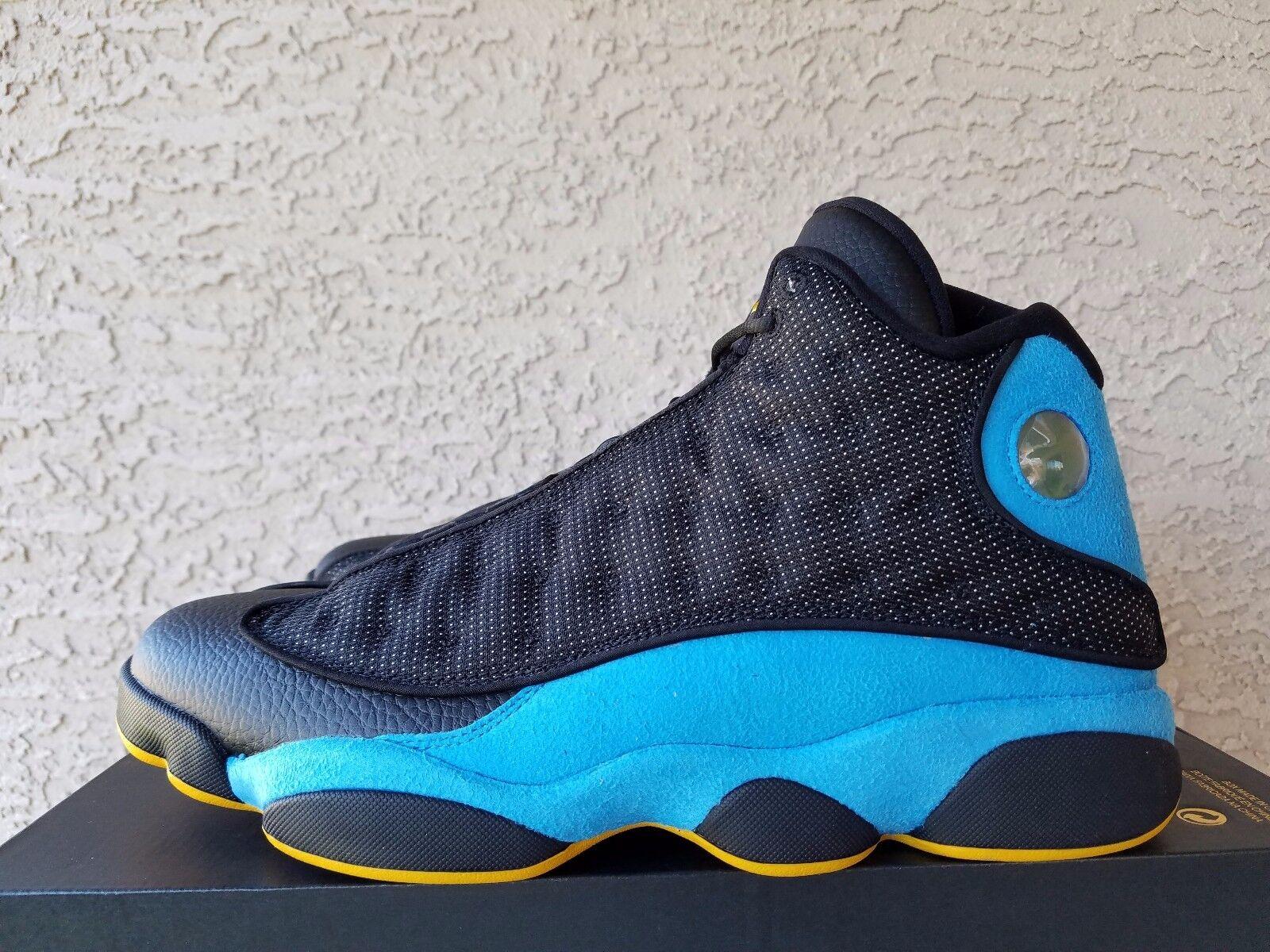 Nike Air Jordan 13 Retro CP PE Black Sunstone Orion Blue 823902-015 Size 11