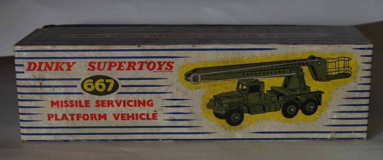 ofrecemos varias marcas famosas Dinky Juguetes 667 vehículo de de de plataforma de mantenimiento de misiles,  como Nuevo  Caja en muy buena  Ven a elegir tu propio estilo deportivo.