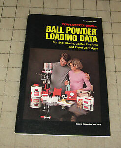 Details about 1976 Winchester Western BALL POWDER LOADING DATA GUIDE 2nd  Edition