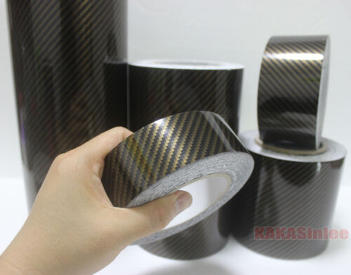 Tape Center 2D Glossy Texture Carbon Fiber Vinyl Wrap Sticker Film Decal BO