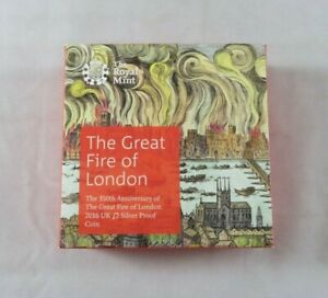 Royal Mint 2016 £2 Silver Proof 350th Anniversary of The Great Fire of London