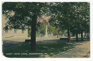 Stupendous Details About Courthouse Lawn Coudersport Pa Vintage Pennsylvania Postcard Download Free Architecture Designs Rallybritishbridgeorg