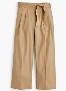 à Pantalon en jambe Taille Crew Petite coton court J1023 Nouveau 8p Kaki J Popeline large xXd8fwq