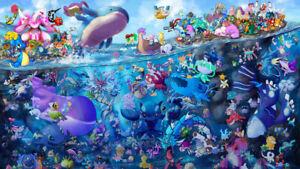 Anime Pokemon Wallpaper Poster 24 x 14