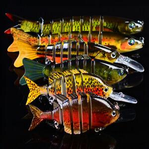 6pcs Sinking Wobbler Fishing Lures Kit Multi Jointed Swimbait HardBait Crankbait