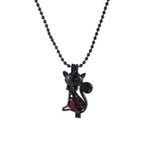 1Pc-Women-Black-Cute-Cat-Pearl-Beads-Cage-Locket-Pendant-Necklace-Jewelry-Gift