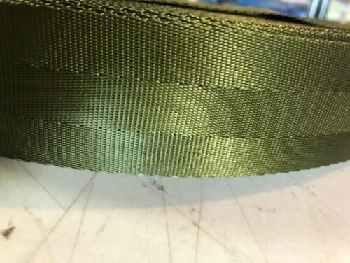 "Olive Green 100 yards 2/"" Seatbelt Webbing Strapping Belt"