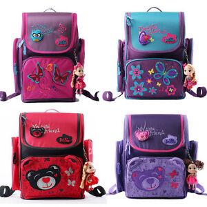 Image is loading Kids-Girls-School-Bag-Cartoon-Orthopedic-Backpack-Rucksack- f5ee255c2