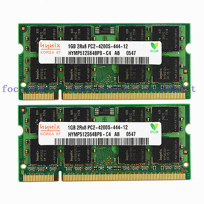 NEW Hynix 2GB 2X1GB PC2-4200 DDR2 DDR2-533MHZ 200pin Sodimm Laptop Memory Ram