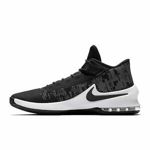 Detalles acerca de Nike Max Infuriate 2 Mid AA7066 001 Air Negro Blanco Zapatos para hombre Baloncesto Gris mostrar título original
