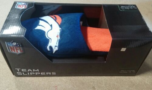 FREE SHIP Denver Broncos Broncos Big Logo SLIDE SLIPPERS New