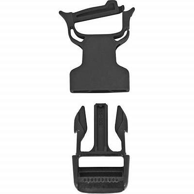"Black Quick Attach Repair Buckle 1"" - Replace A Broken Buckle w/Out Sewing"