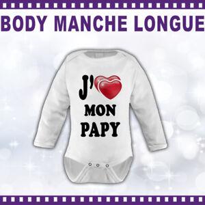 Body-manche-longue-BEBE-personnalise-J-039-AIME-MON-PAPY