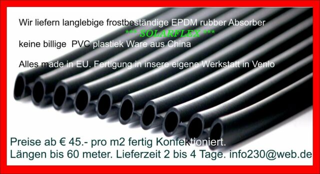 EPDM   ab € 45 m2 Poolheizung matte Solar Heizung Schwimmbadheizung Absorber