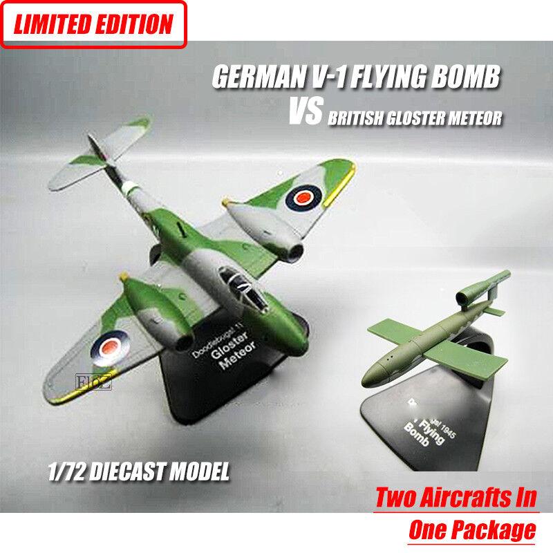 GERMAN V-1 FLYING BOMB VS BRITISH GLOSTER METEOR I 1 72 plane model aircraft