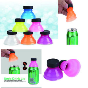 6pcs Reusable Snap On Can Bottle Caps For Cool Soda Drink