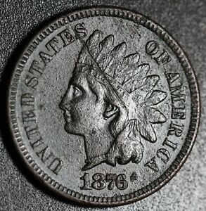 1876-INDIAN-HEAD-CENT-With-LIBERTY-VF-VERY-FINE-Details