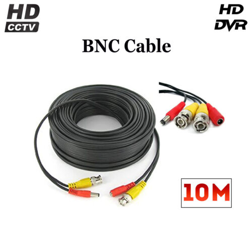 10 Meter High Quality BNC Cable for CCTV Camera DVR DC Power /& Video LOT sale