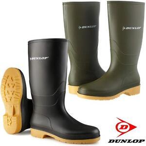 Garcons-Filles-DUNLOP-Wellington-Wellies-PLUIE-branche-Neige-Impermeable-Bottes-Chaussures