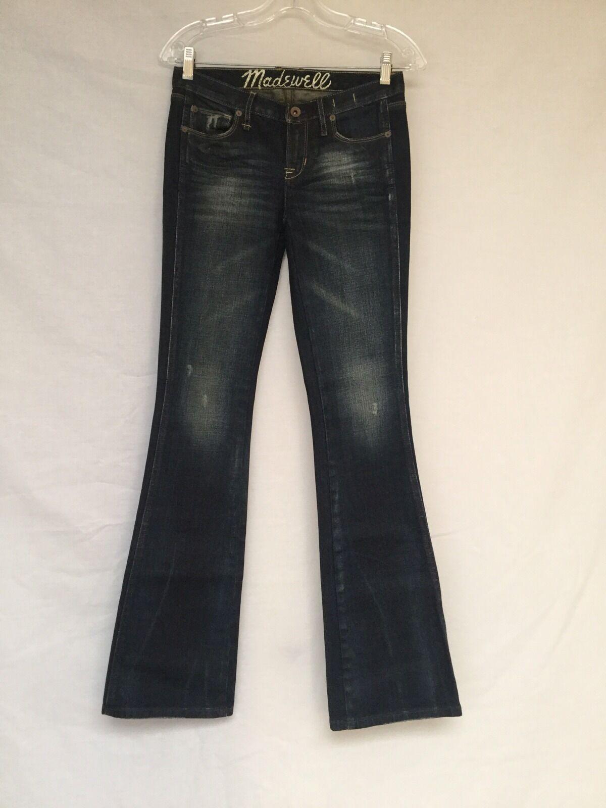 Ladie's Madewell Slight Curve Jeans-bluee 24X34