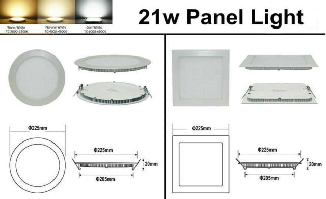 Dimmable CREE 6W/9W/12W/15W/18W/21W LED Recessed Ceiling Panel Down Lights Lamp