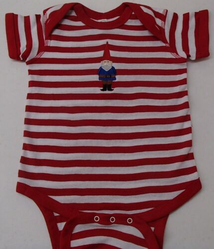 Red Stripe Baby One Piece Snap T-shirt with David the Gnome Size 18 months