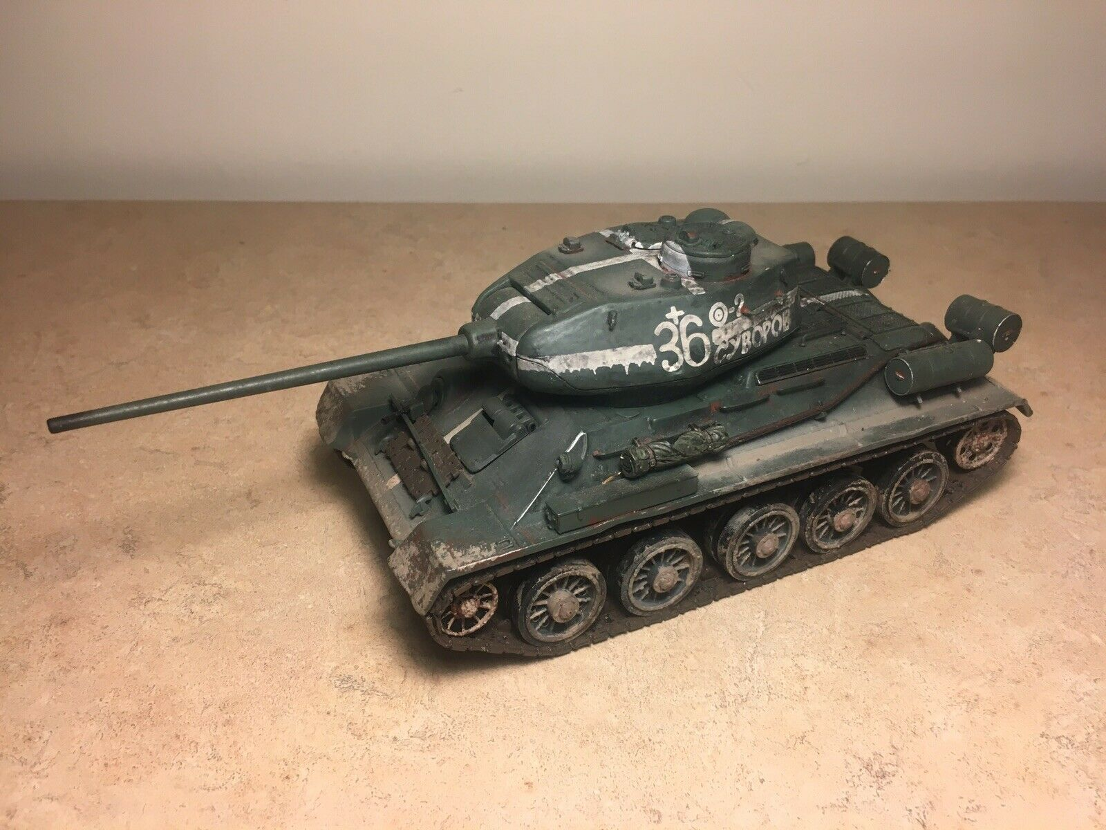 Forces Of Valor Unimax 1 32 Soviet Russian T-34 85 Tank Eastern Front, 1945