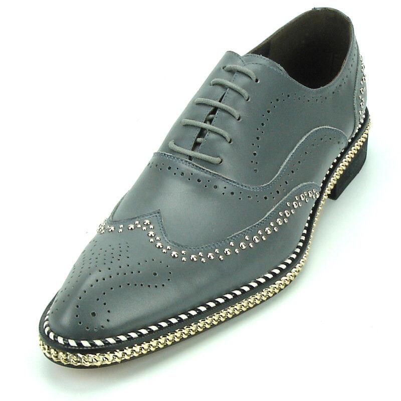 FI -7201 grigio Genuine Leather Tip Lace up Fiesso  di Aurelio Garcia  il più alla moda