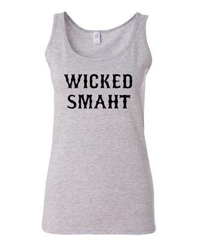 Junior Wicked Smaht Genius Novelty Statement Sleeveless Graphics Tank Top