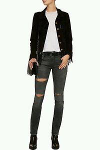 Skate In Jeans Italy Rippet R13 Marmor Womens Small Grå Størrelse Made 25 Runs Aqwn14x15