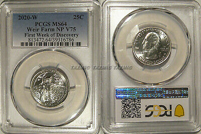 2020 W WEIR FARMS HISTORIC NGC MS65 FIRST WEEK DESCOVERY V75 PRIVY QUARTER 25c