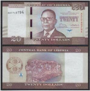 Liberia-20-Dollars-2016-Prefix-AA-UNC-20-2016-AA-7690899